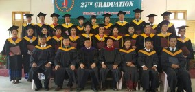 Graduation of 27 from Mandalay Bible Seminary, Mandalay, Myanmar, under Rev. James Biak Lian, 11 Feb. 2018.