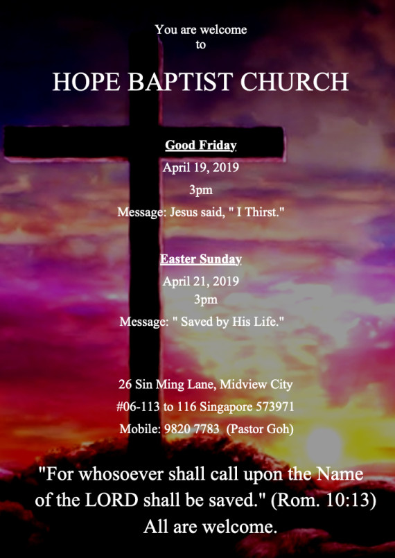 Good Friday and Easter 2019